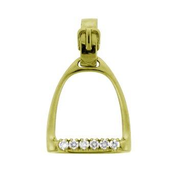 Diamond Stirrup Pendant