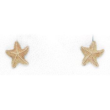 Yellow Gold Starfish Earrings