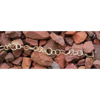 Diamond and Yellow Gold, Fancy Link Bracelet