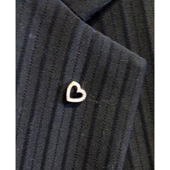 Diamond and White Gold Heart Pin