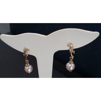 Pearl Seahorse Earrings