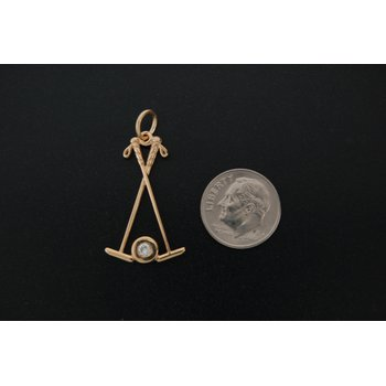 Polo Mallets Charm With Diamond