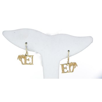 Yellow Gold Emerald Isle Earrings