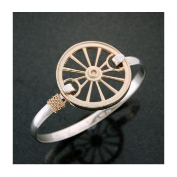 14Kt Carriage Wheel Clasp Complete With Lestage Bracelet