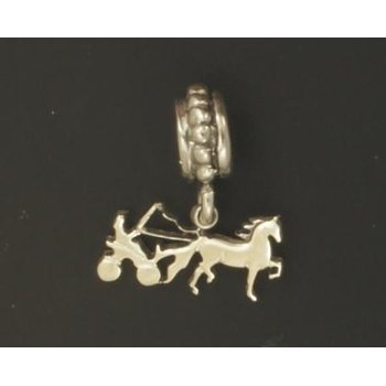 Fine Harness Cart And Horse Bead