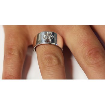 Sterling Silver Dog Paw Ring