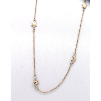 Small sun, moon, and stars necklace