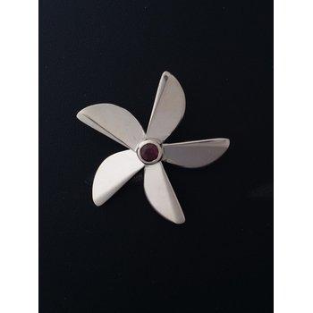 Garnet Propeller Pendant