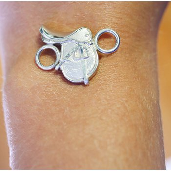Sterling Silver Horse Saddle Clasp
