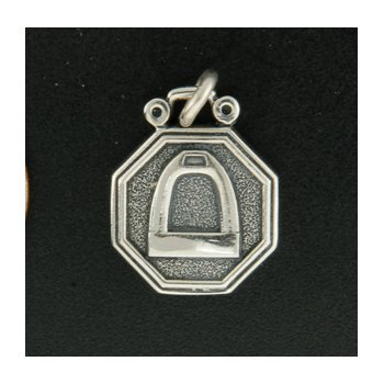 Sterling Stirrup Plaque Charm