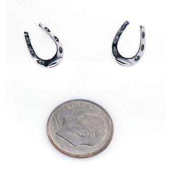White Gold Horseshoe Earrings