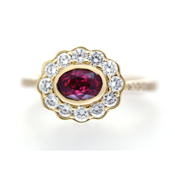 Ruby, Diamond and Yellow Gold Ring