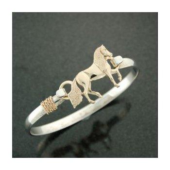 14 Karat Paso Fino Clasp Complete With Lestage Bracelet
