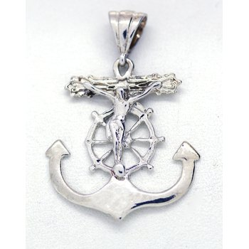 Sterling Silver Mariners Anchor Pendant