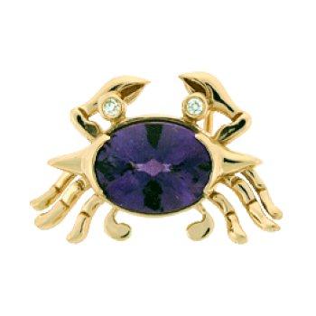 Diamond Crab Pendant