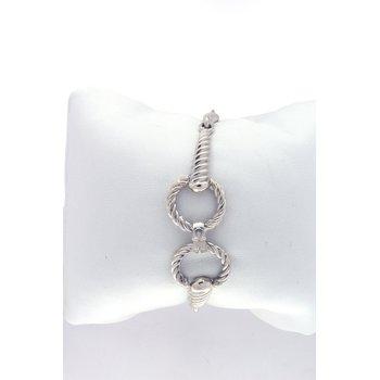 sterling silver horse bit bracelet