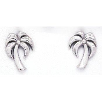 White Gold Palm Tree Earrings