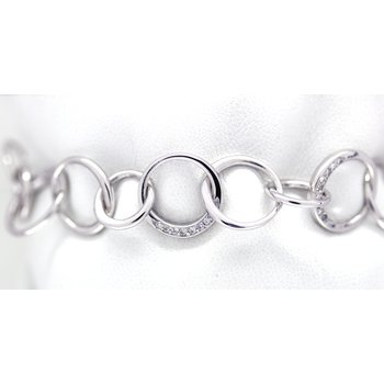 Diamond and White Gold, Fancy Link,  Bracelet