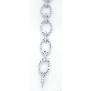 Diamond and White Gold, Fancy Link Bracelet