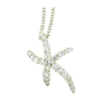 Diamond Starfish Pendant And Chain