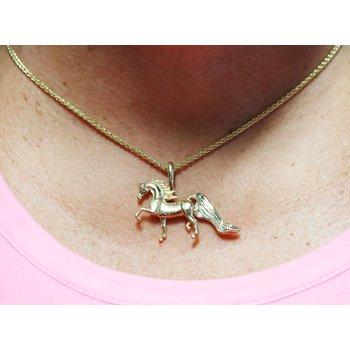 14Kt Gold Horse Pendant