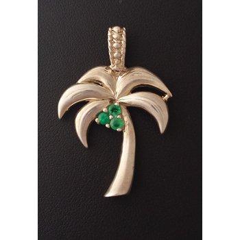 Emerald Palm Tree Pendant
