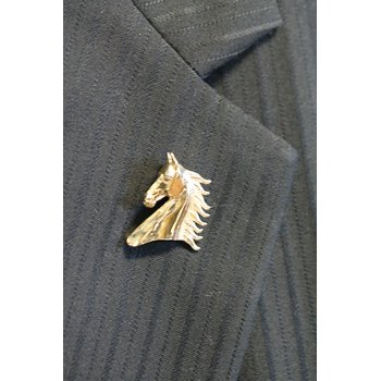 Yellow Gold Horse Head Pin