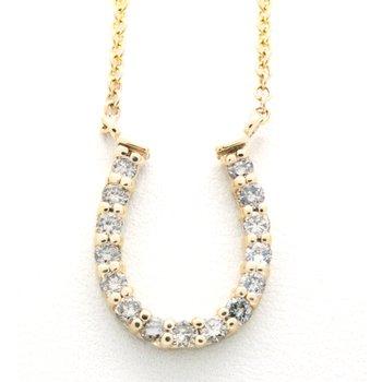 Diamond and yellow gold horseshoe necklace