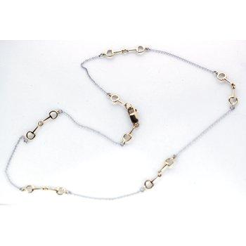 Gold, Horse Bit Necklace