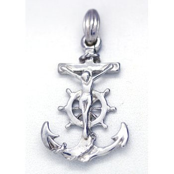 Sterling Silver Mariner Anchor Pendant