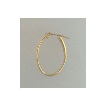 14Kt Yellow Gold Polo Hoop Earrings