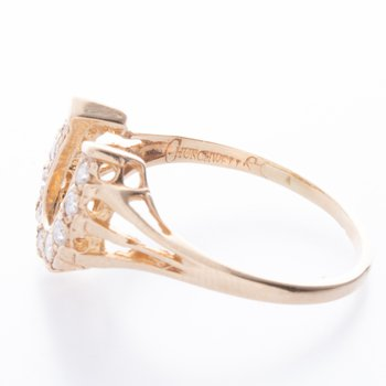 14 kt Diamond Horseshoe Ring