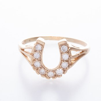 14 kt Diamond Horseshoe Ring