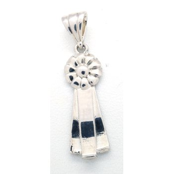 Sterling Silver Ribbon Pendant