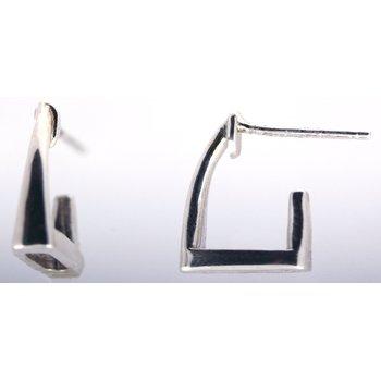 Sterling Silver Stirrup Hoop Earrings