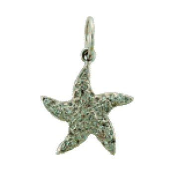 Diamond Starfish Charm