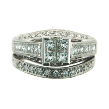 Square Diamond Wedding Set