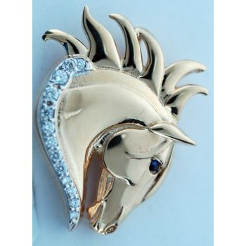 Andalusian/Lusitano Horse Head Pendant