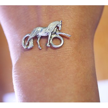 Sterling Silver Horse Clasp