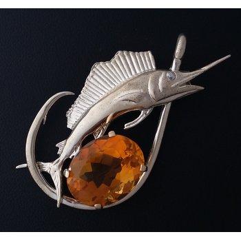 Citrine Sailfish Pendant