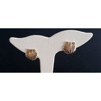 Shell Earrings With Diamonds