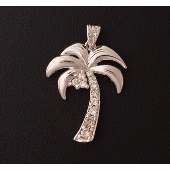 White Gold Palm Tree Pendant