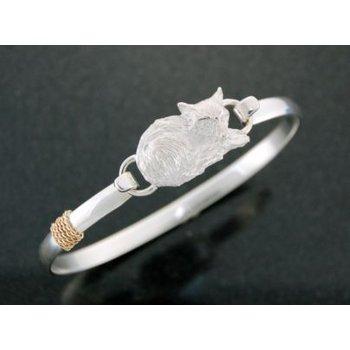 Lestage 7'' Bangle Bracelet With Fox Clasp