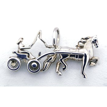 Sterling Silver Driving Horse Pendant