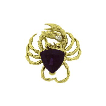 Amethyst Crab Pendant