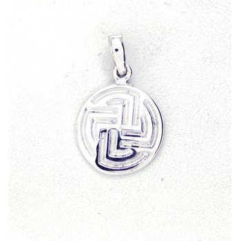 Small Sterling Silver Centre Point Stable Pendant
