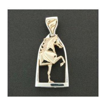 Horse In Stirrup Pendant