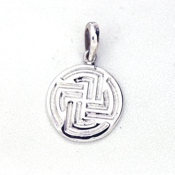 Medium Sterling Silver Centre Point Stable Pendant