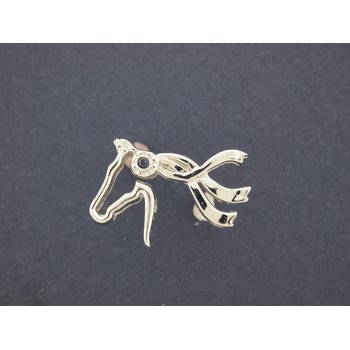 14Kt Yellow Gold Cater Stables Horse Head Lapel Pin