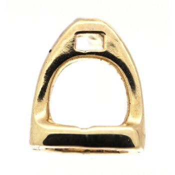 Yellow Gold Horse Stirrup Tie Tac